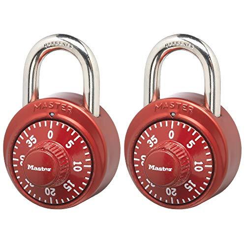 Master Lock 1530T Locker Lock Combination Padlock, 2 Pack of...