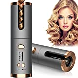 Cordless Auto Hair Curler, Automatic Curling Iron with 6 Temperature &...
