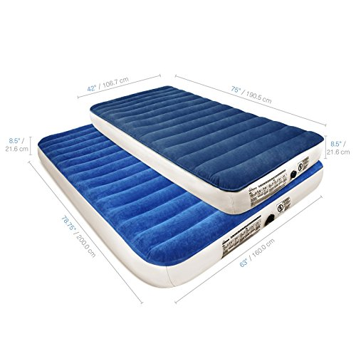 SoundAsleep Camping Series Air Mattress with Eco-Friendly PVC -...