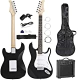 Smartxchoices 39' Full Size Black Electric Guitar with 10W Amp,Gig Bag...