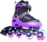PAPAISON Adjustable Inline Skates for Kids and Adults with Full Light...