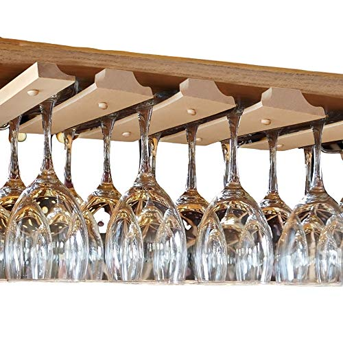 SMITCO Wine Glass Holder - Under Cabinet Storage and Hanging Stemware...