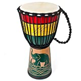 Djembe, African Drum Bongo Congo Stardard Size Mahogany Goatskin...