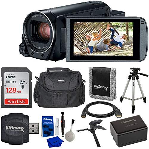 Canon VIXIA HF R800 Camcorder (Black) & 9PC Starter Accessory Bundle -...