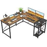 Foxemart L-Shaped Computer Desk, Industrial Corner Desk Writing Study...