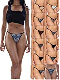 Sexy Basics Womens Buttery Soft String Bikini Briefs -Pack of 12 (12...