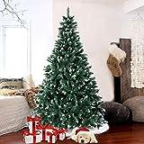 AerWo 6FT Flocked Snow Christmas Tree, Artificial Christmas Pine Trees...