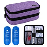 Yarwo Insulin Cooler Travel Case, Double-Layer Diabetic Travel Case...