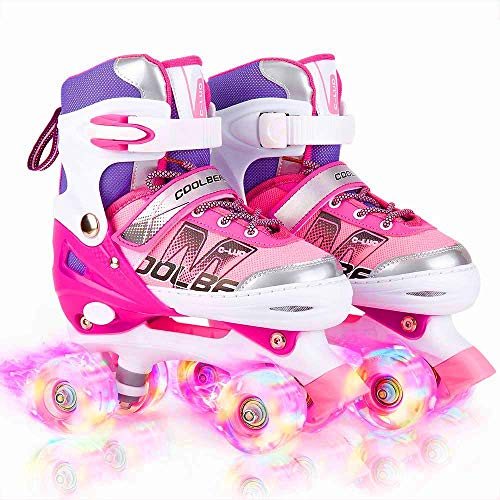 Otw-Cool Adjustable Roller Skates for Girls and Women, All 8 Wheels of...