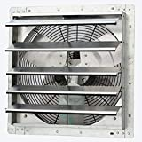 iLiving - 18' Wall Mounted Exhaust Fan - Automatic Shutter - Variable...