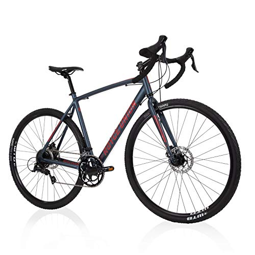 Royce Union Mens Gravel Bike Aluminum, 18 Speed, 700c Tires, Matte...