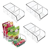 mDesign Plastic Food Packet Kitchen Storage Organizer Bin Caddy -...