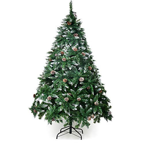 Winregh 4,5,6,7.5 Foot Artificial Christmas Tree Snow Flocked Hinged...