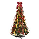 Christmas Tree Fully Decorated Pre-lit 6 Ft Pull Up Pop Up Out of Box...
