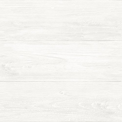 NuWallpaper NU3129 Reclaimed Shiplap Peel & Stick Wallpaper,...