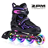 2PM SPORTS Vinal Girls Adjustable Inline Skates with Light up Wheels...