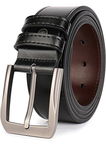 "Beltox Fine Men's Casual Leather Jeans Belts 1 1/2"" Wide 4MM Thick..."