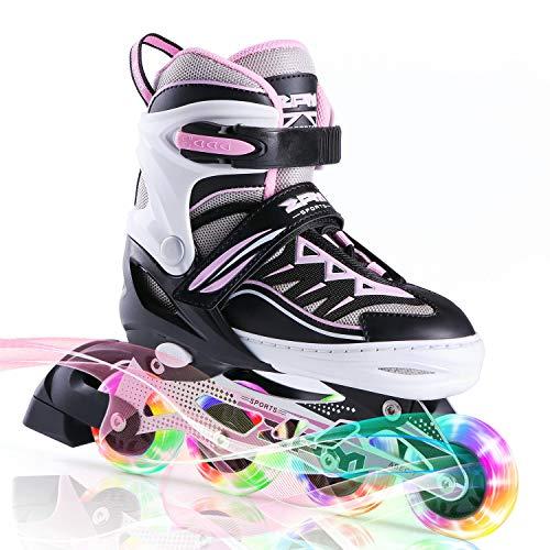 2pm Sports Cytia Pink Girls Adjustable Illuminating Inline Skates with...