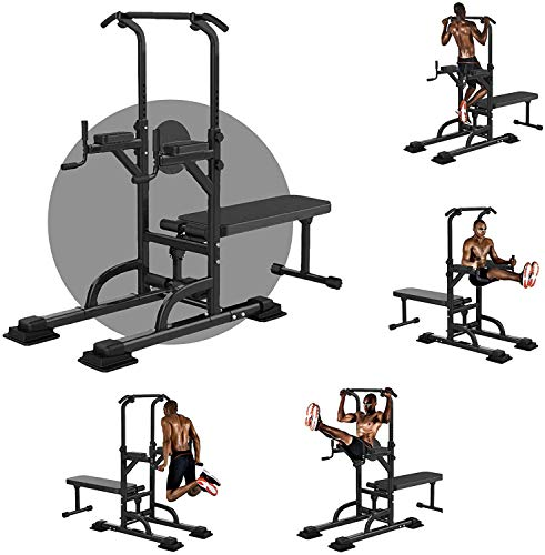 XCXC Power Tower Dip Station Pull Up Bar for Rack Exercise Equipment...