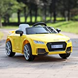 JAXPETY Yellow Audi TT 12V Electric MP3 LED Lights RC Remote Control...