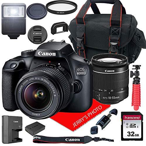 Canon EOS 4000D DSLR Camera w/Canon EF-S 18-55mm F/3.5-5.6 III Zoom...