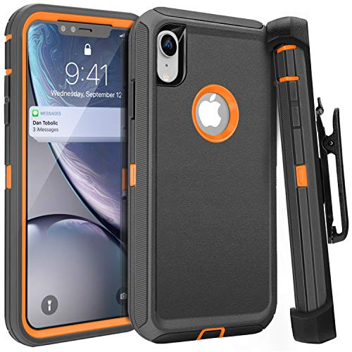 iPhone XR Case,FOGEEK Belt Clip Holster Heavy Duty Kickstand...