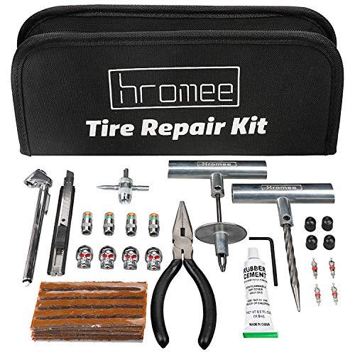 Hromee 56 Pieces Tire Repair Tools Kit for Car, Trucks, Motorcycle,...
