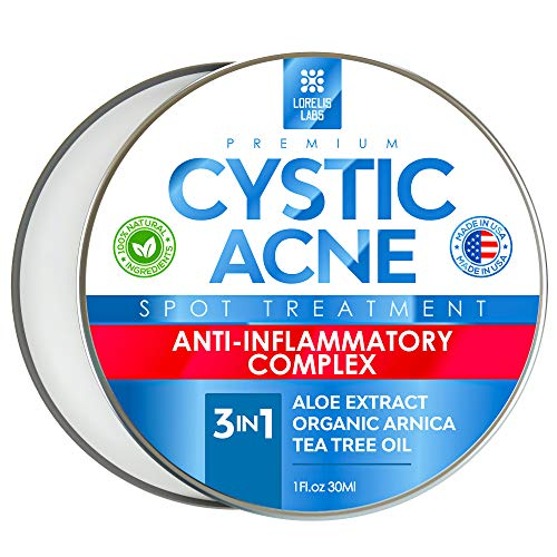 Cystic Acne Spot Treatment for Face & Body – Natural Acne Scar...