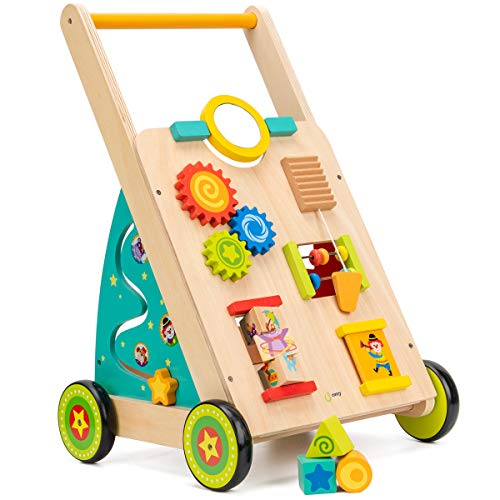 cossy Wooden Baby Learning Walker Toddler Toys for 18 Months (Updated...