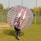 Holleyweb Red Bubble Soccer Ball Dia 5' (1.5m) Human Inflatable Bumper...