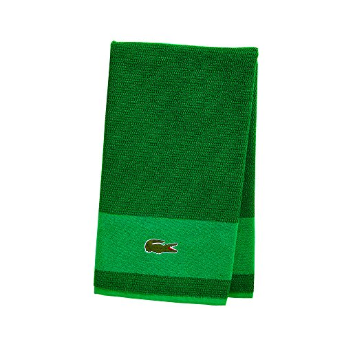 Lacoste Match Bath Towel, 100% Cotton, 600 GSM, 30'x52', Field Green