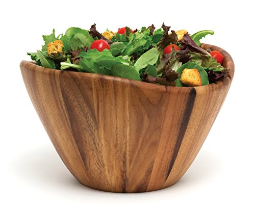 Lipper International 1174 Acacia Wave Serving Bowl for Fruits or...