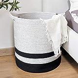 Goodpick Tall Cotton Rope Basket - Woven Storage Basket - Large Basket...