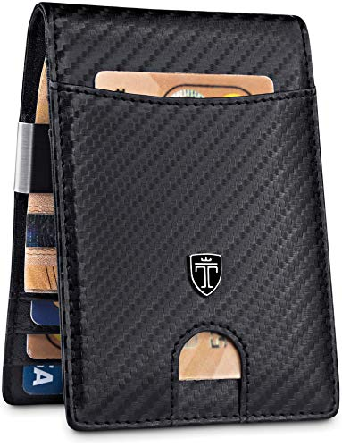 TRAVANDO Money Clip Wallet'RIO' - Mens Wallets slim Front Pocket RFID...