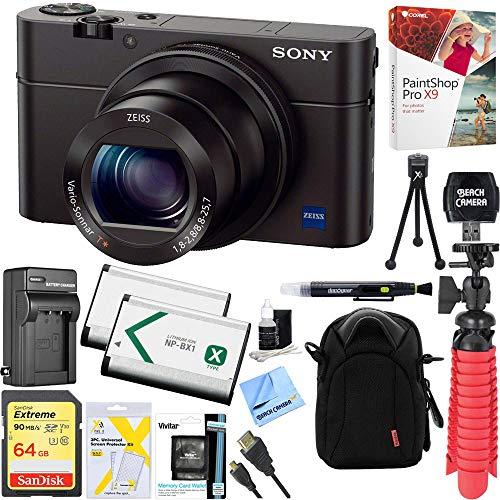 Sony Cyber-Shot DSC-RX100 III 20.2 MP Digital Camera - Black + 64GB...