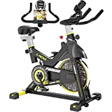 pooboo Indoor Cycling Bike, Belt Drive Indoor Exercise Bike,Stationary...