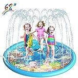 Splash Pad, Homga 68' Sprinkler for Kids Outdoor Sprinkler Pad Mat for...
