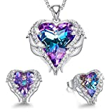 CDE Angel Wing Heart Jewelry Sets Gift Set for Women Pendant Necklaces...