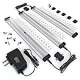 EShine 3 12 Inch Panels LED Dimmable Under Cabinet Lighting Kit, Hand...