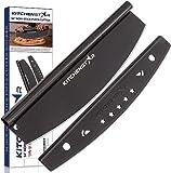 "16"" Black Non-Stick Pizza Cutter by KitchenStar | Sharp Stainless..."