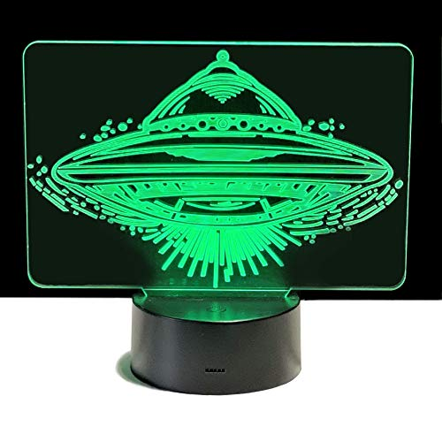 UFO 3D Night Light | 3D Illusion Night Lamp | Gift for Kids | Night...