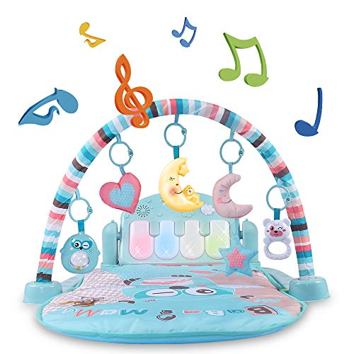 Temi Baby Gym Toys & Activity Play Mat, Kick and Play Piano Gym Center...