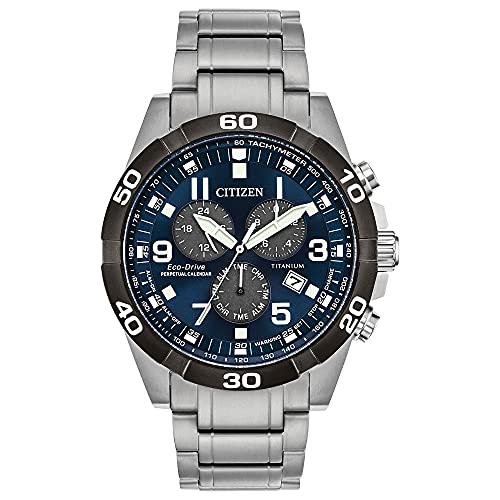Citizen Eco-Drive Brycen Chronograph Mens Watch, Super Titanium,...
