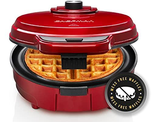 Chefman Anti-Overflow Belgian Waffle Maker w/Shade Selector,...