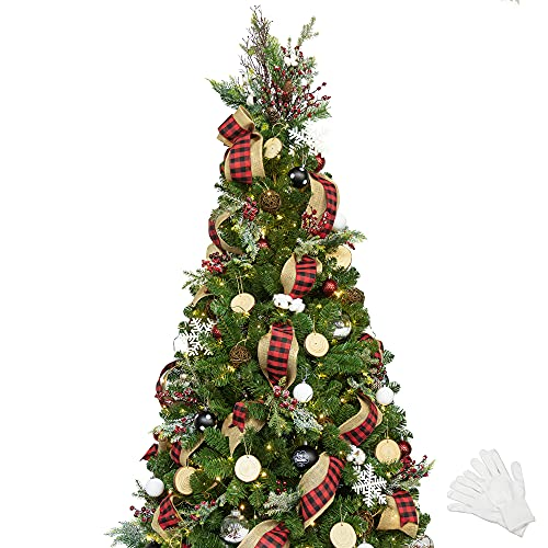 KI Store 6ft Christmas Tree with Ornaments and Lights Remote and Timer...