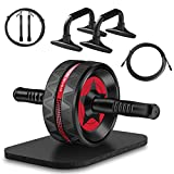 Syntus Upgraded 6-in-1 AB Roller Wheel with Knee Pad Push Up Bars...