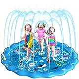 Homga Splash Pad, 68' Sprinkler for Kids Outdoor Sprinkler Pad Mat for...