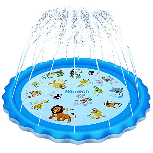 Homech Sprinkler for Kids, Splash Pad, Outdoor Inflatable Sprinkler...