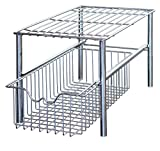 DecoBros Stackable Under Sink Cabinet Sliding Basket Organizer...