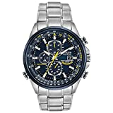 Citizen Eco-Drive World Chronograph A-T Mens Watch, Stainless Steel,...